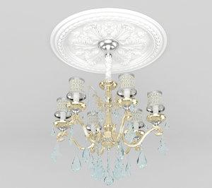 classic chandelier 3d max