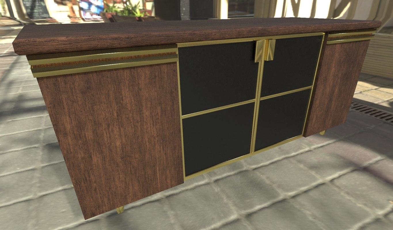 kitchen counter 3d model