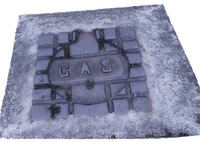 3d manhole gas cover street model