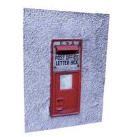 realistic royal mail post box 3d dxf