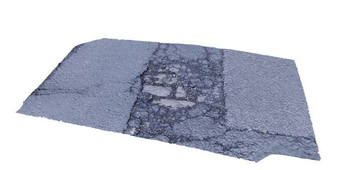 3d model damaged road