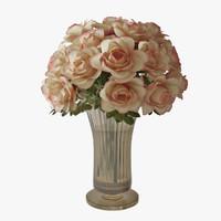 3d roses vase