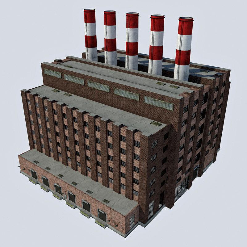 - industrial power plant 3d model