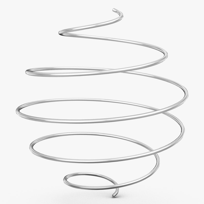 3d model of metal spiral