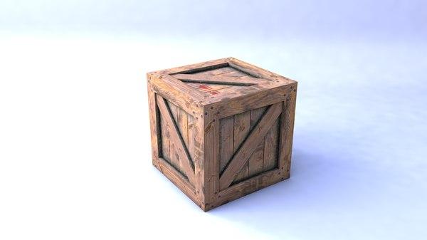 free wodden crate 3d model