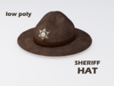 sheriff hat 3D models