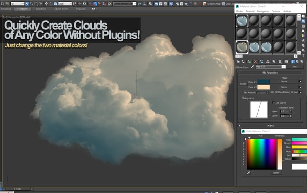 cloud photoreal real 3d obj