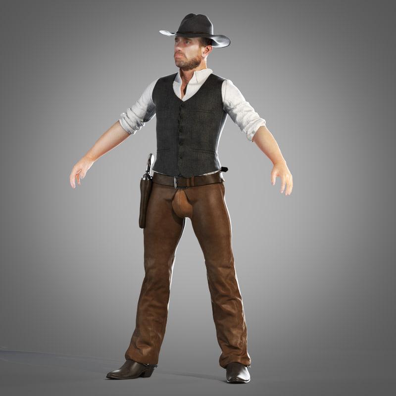 3d cowboy rig model