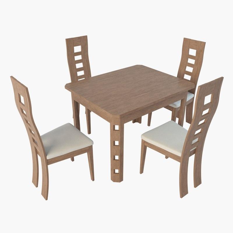 3d table brandenburg potsdamm chairs model