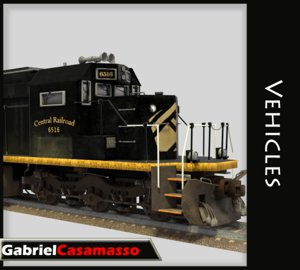3d model train cargo