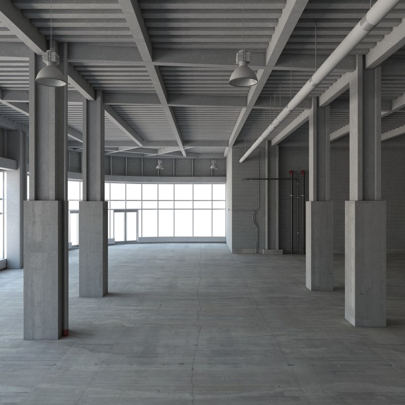 3d loft interior model