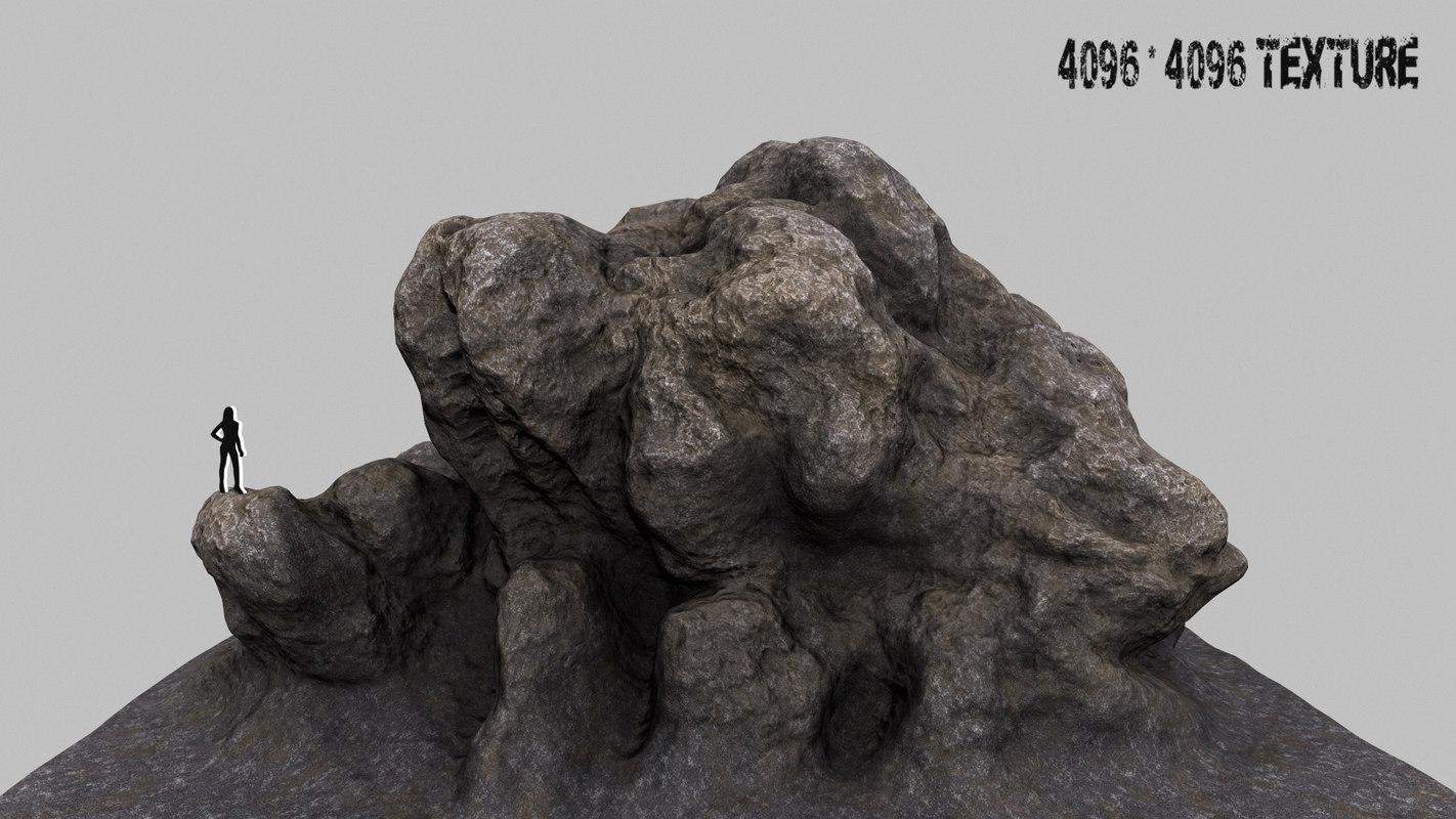 3d model of mountain rock