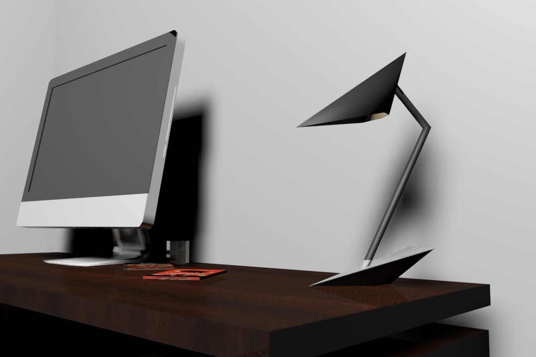 3d contemporary lamp model