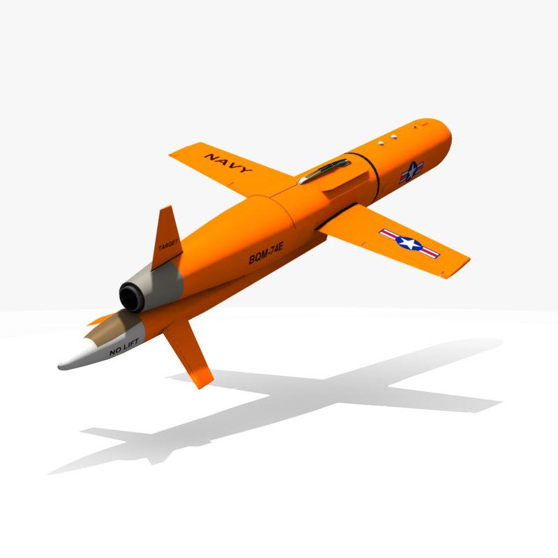 bqm-74e target 3d model