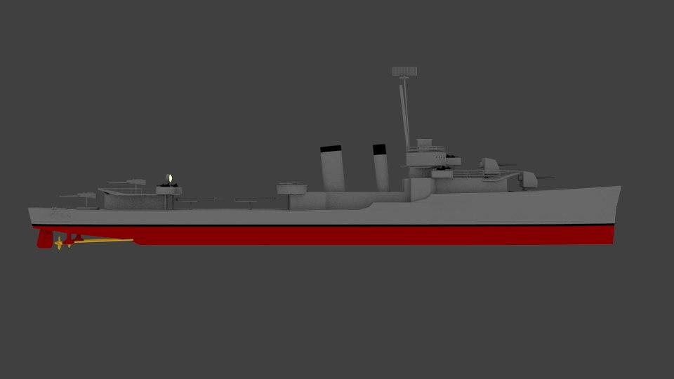 hull dd-350 3d model