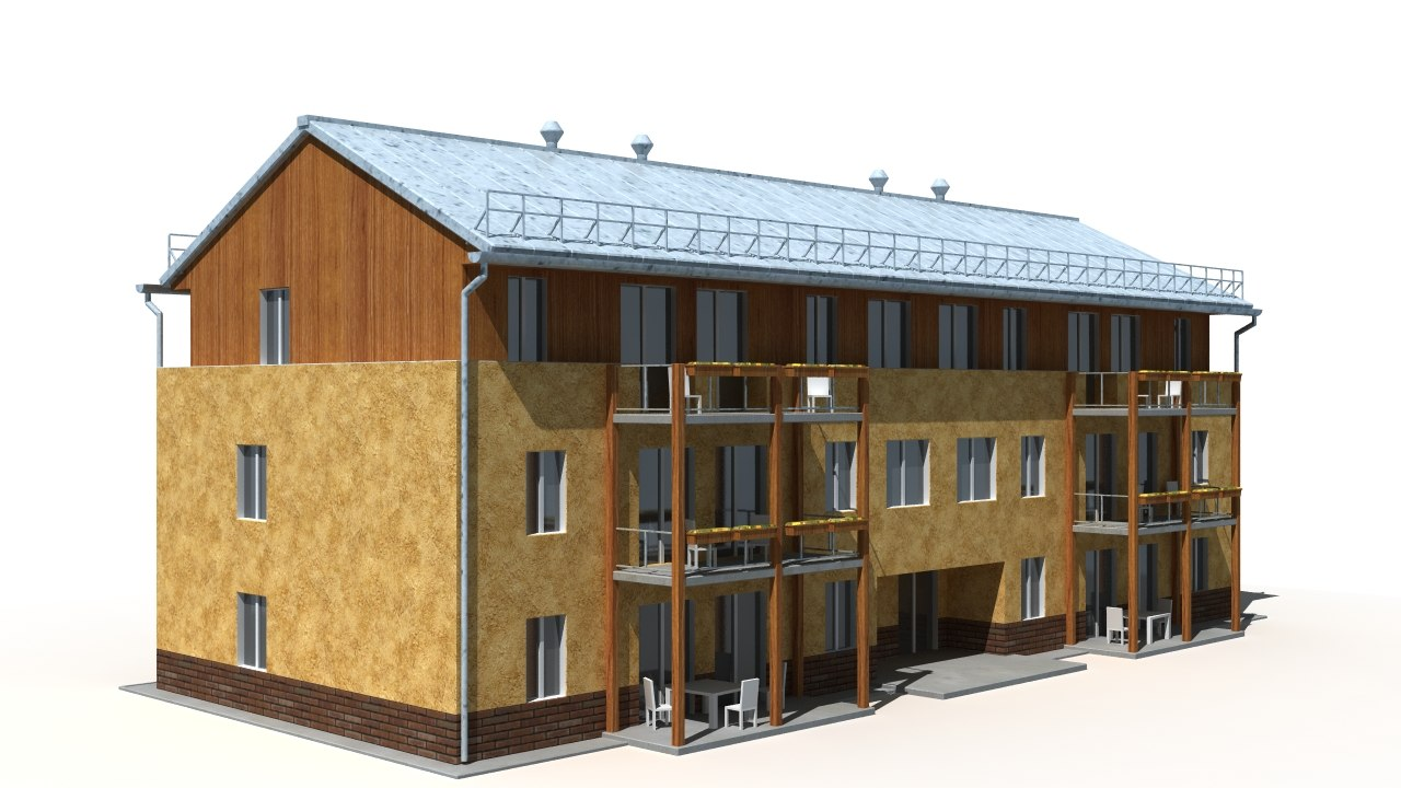 building background 3d obj