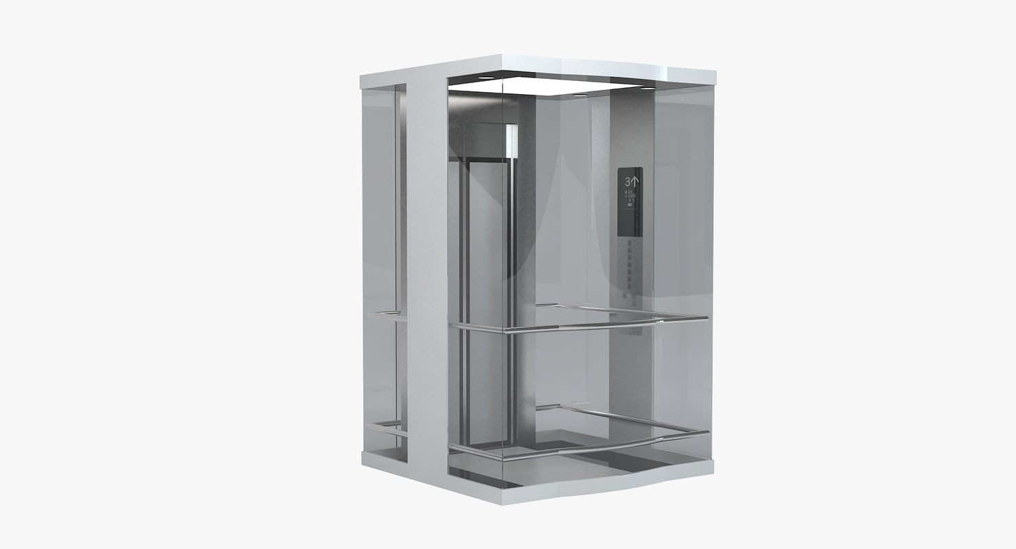 3d transparent glass elevator