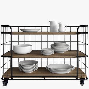 3d model racks bakers
