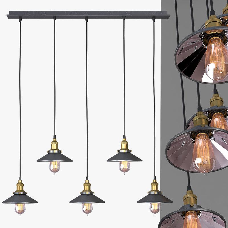 3d max chandelier 5 loft