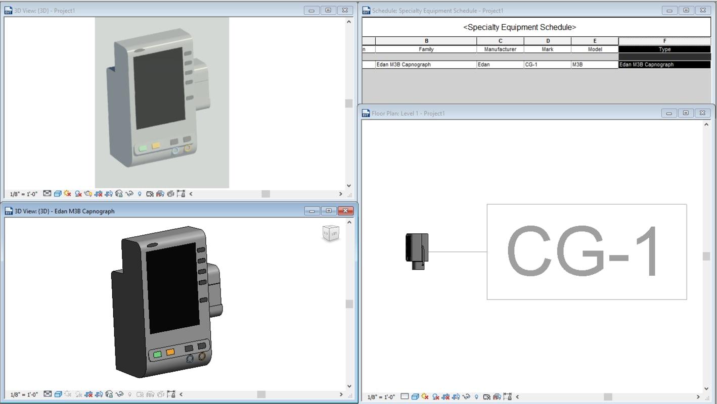 free edan m3b capnograph 3d model