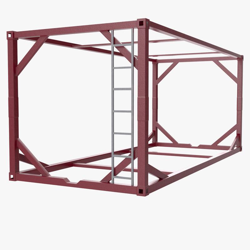 3d iso tank frame