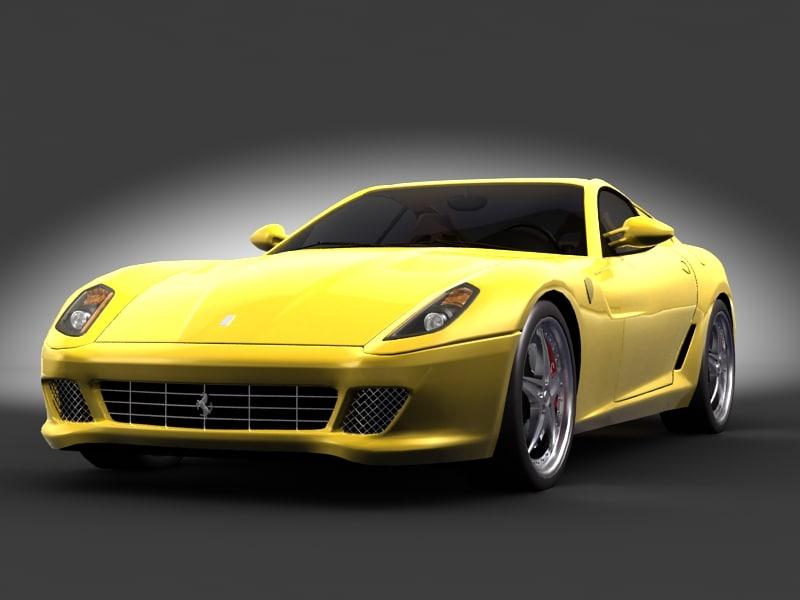 3d ferrari 599 car model