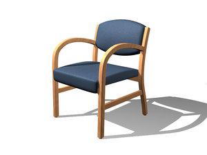 newport armchair 3d model