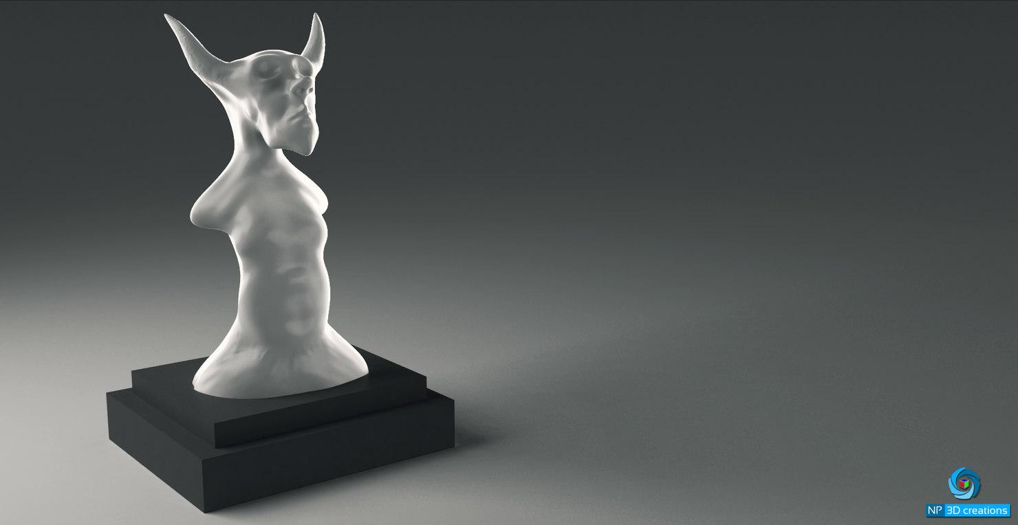 3d model statues