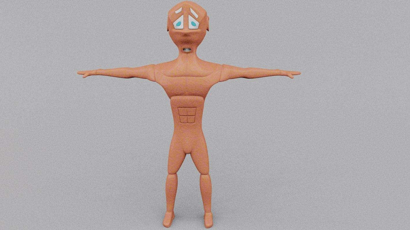 superhero cartoon character 3ds