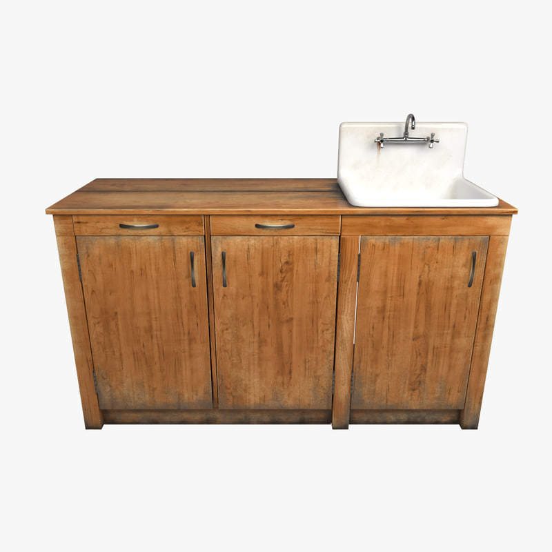 old cooking table 3d max