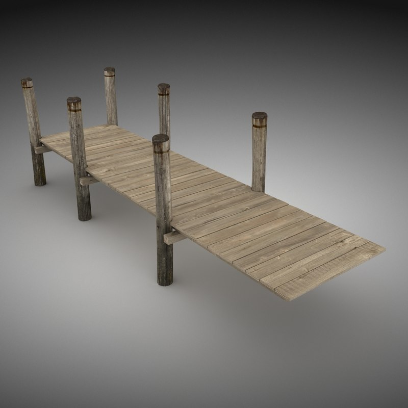 pier wood 3d max
