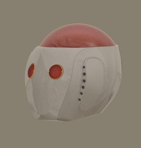 3d robot head model