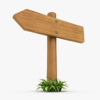 3d realistic wooden signboard grass