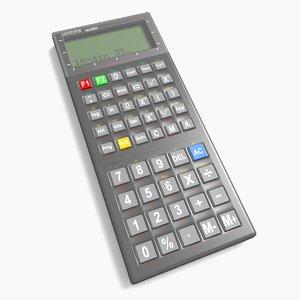 3d generic scientific calculator model