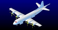 p-3c orion aircraft solid 3d model