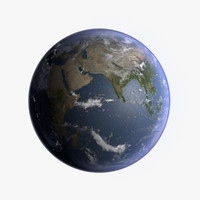 3d realistic planet earth model