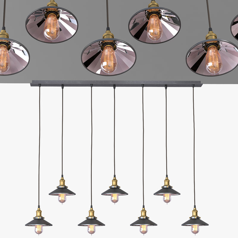 chandelier 7 loft 3d model