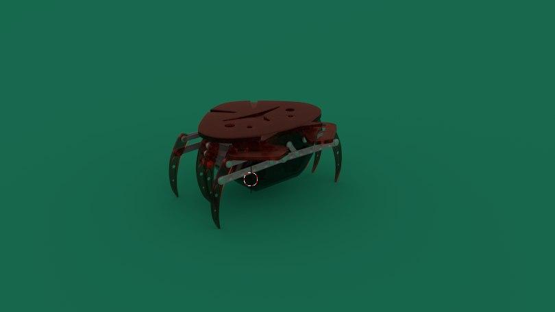 robot crab toy blend