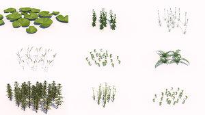 different plants 3d 3ds
