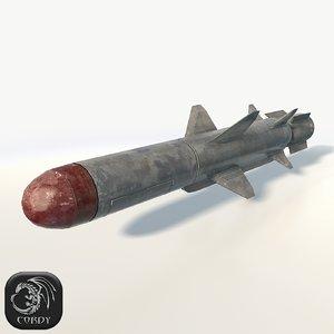 military rocket 3d 3ds