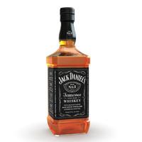 3d model jack daniel s bottle