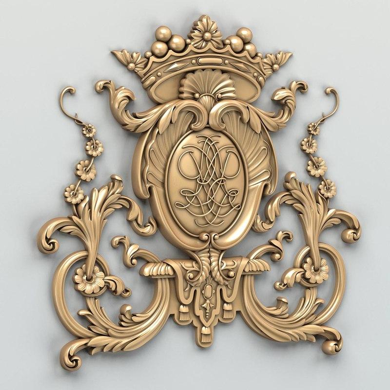 3d carved central decor