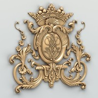 3d carved central decor