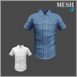 male denim shirt 3ds