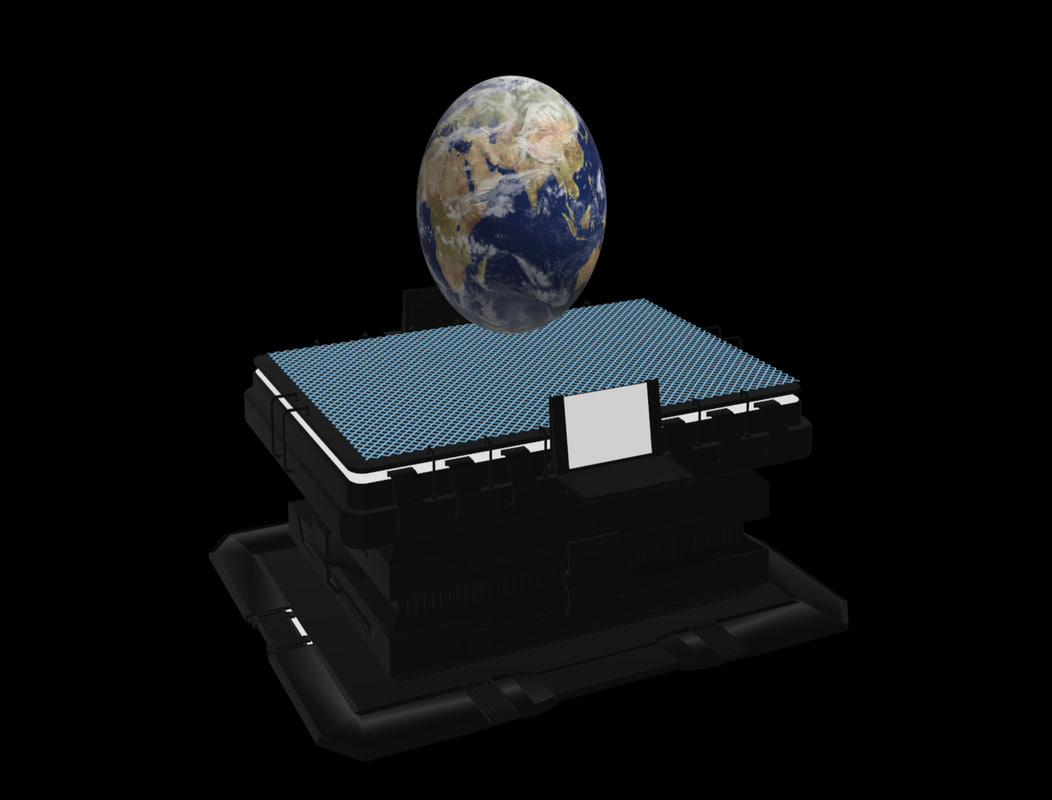 hologram table sci-fi 3ds