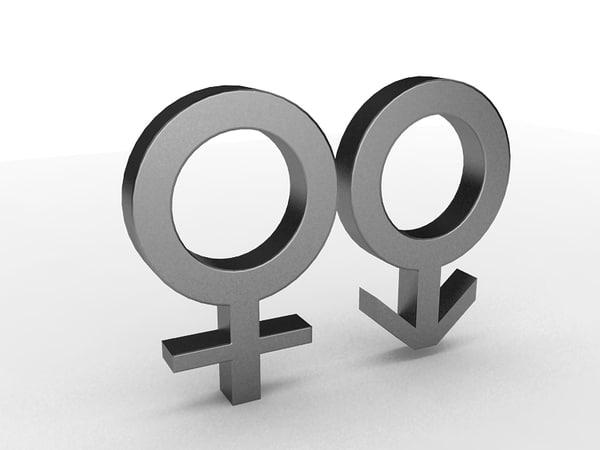 gender simbol 3d model