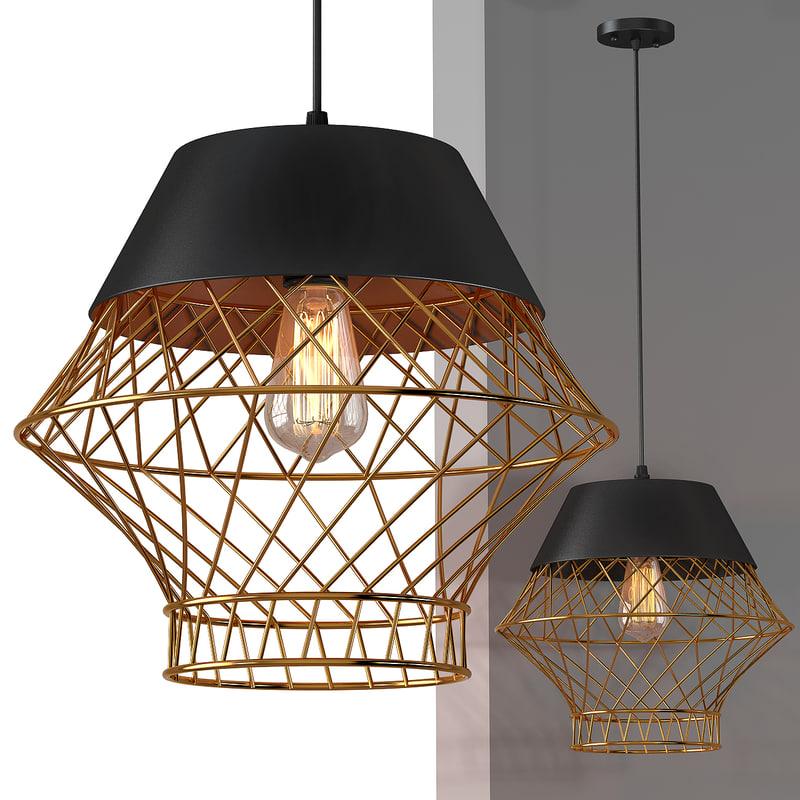 3d model suspension lamp light