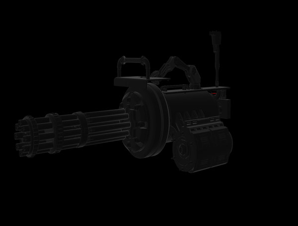 gun minigun c4d