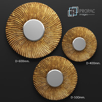 piece swirl mirror set 3d model