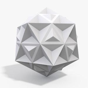 3d polyhedron model